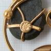 K12金-Curtman-翡翠の葉に月光真珠アンティーク・ブローチ(ロゴ刻印)