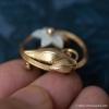 Creed-K12金-真珠貝フラワー・サークル・ブローチ(側面)