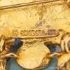 Swoboda スワボダ-天然石ブルー・ライオン・ヴィンテージ・ブローチ(ロゴ刻印)