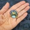 Swoboda スワボダ-天然石ブルー・ライオン・ヴィンテージ・ブローチ(大きさ)