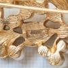 Trifari トリファリ-ゴールドハート小枝ヴィンテージ・ブローチ(刻印)