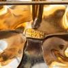 Carl Art-12金-真珠アンティーク・フラワー・ブローチ(刻印)