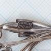 CarlArt-シルバー925-ヌーボーフラワー・ブローチ(刻印)