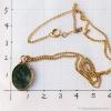 天然石翡翠(ジェード/ヒスイ)ゴールド・ペンダント・ネックレス(大きさ)
