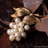 アリス・キャヴィネス-真珠と12Kゴールドのアンティーク・ブローチ