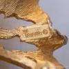 Trifari トリファリ-ゴールド&パール鳥の巣ブローチ(刻印)