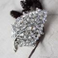 Vendome-銀の葉の森アンティーク・ブローチ
