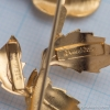 Vendome-シルバー925-ローズ・ブローチ(ロゴ、刻印)