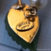 Wells-天然石翡翠と真珠のヴィンテージ・ブローチ(刻印)