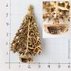 Art-雪のヴィンテージ・クリスマスツリー・ブローチ(刻印)